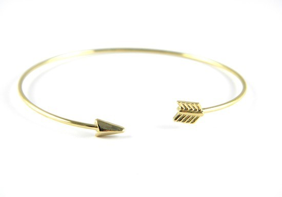 Bracelet jonc Inca argenté