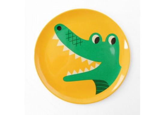 Assiette crocodile