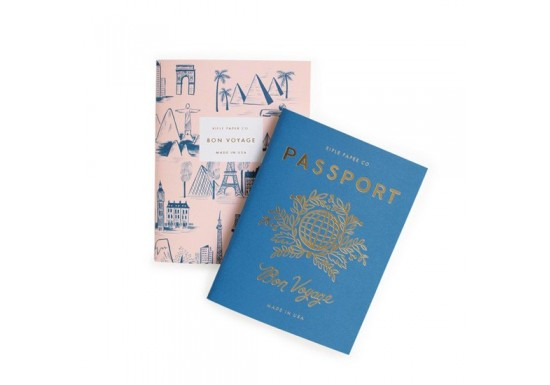 Set de 2 carnets Bon voyage