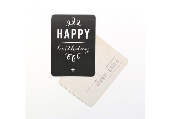 Carte postale Happy Birthday vert menthe