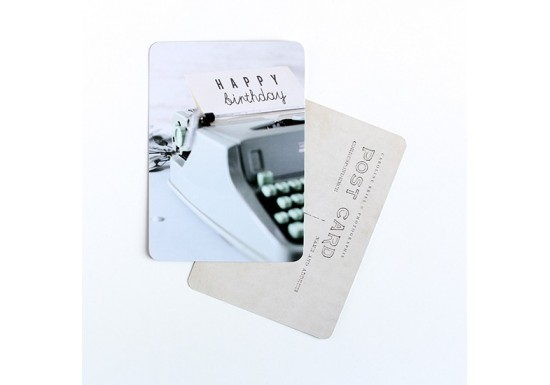 Carte postale Happy Typewriter