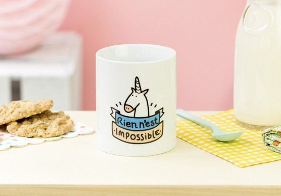 Mug Licorne Nothing is impossible