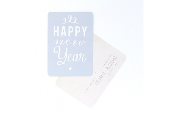 Carte postale Happy new year Anna gris