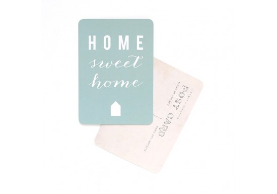 Carte postale Home sweet home - mint