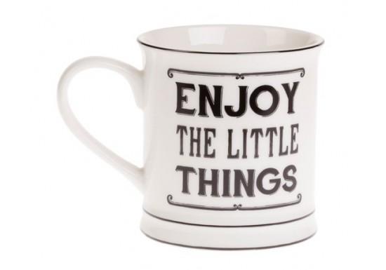 "Mug ""Enjoy the little things"""