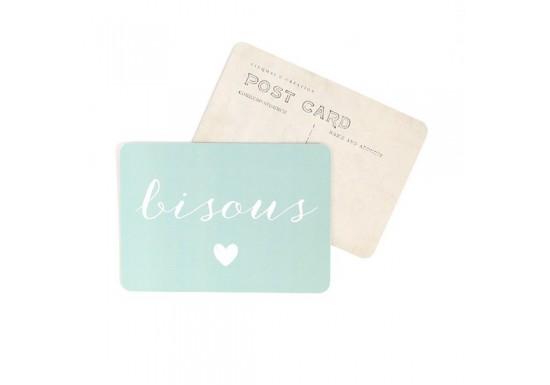 Carte postale Bisous - Anna - ardoise