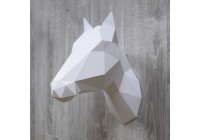 Trophée Cheval / Licorne blanc