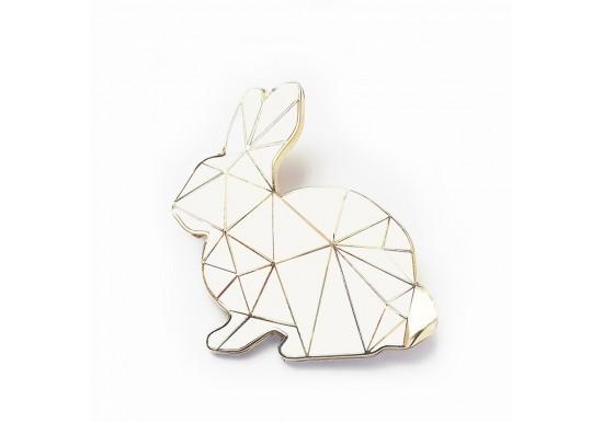 Broche bunny blanc