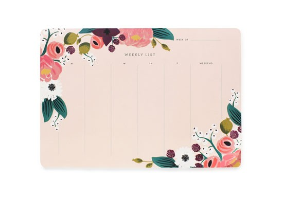Semainier pink floral