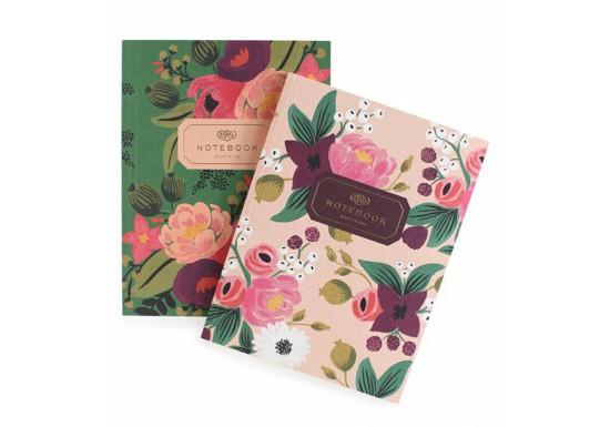 Set de 2 cahiers vintage floral