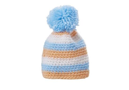Bonnet pour œuf bleu / orange
