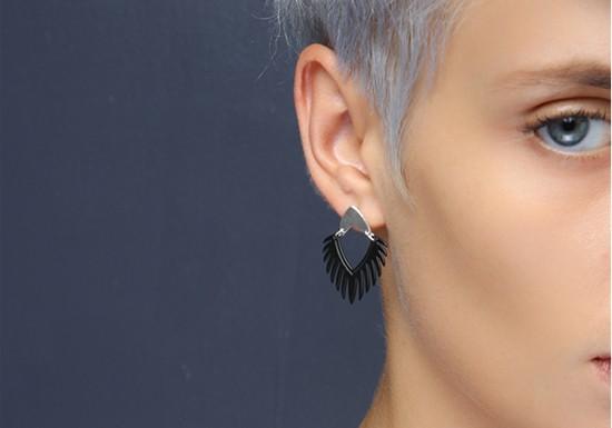 Boucles d'oreilles Mohawk argenté