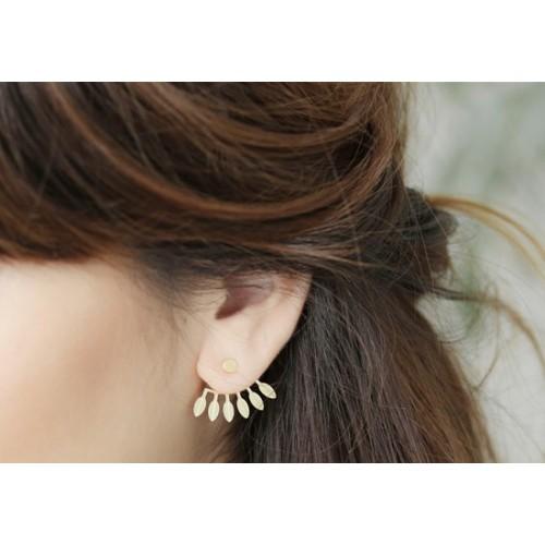 Boucles d'oreilles Amazonas doré