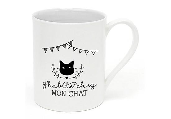 Mug J'habite chez mon chat