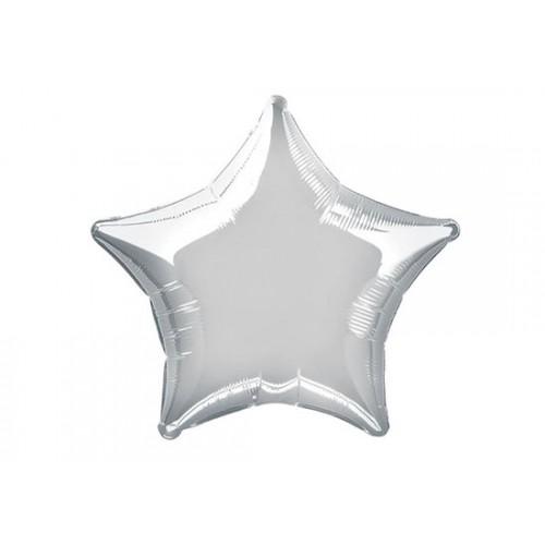 Ballon étoile argent