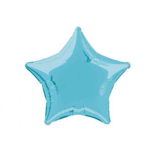 Ballon étoile bleu clair