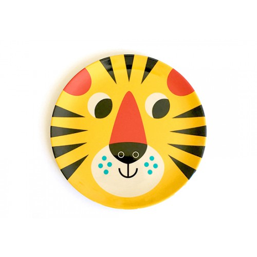 Assiette Tiger face