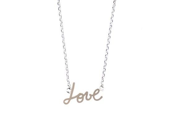 Collier Love argenté