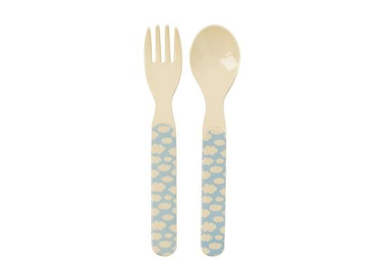 Set cuillère et fourchette nuage