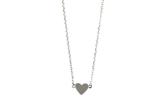 Collier coeur argenté