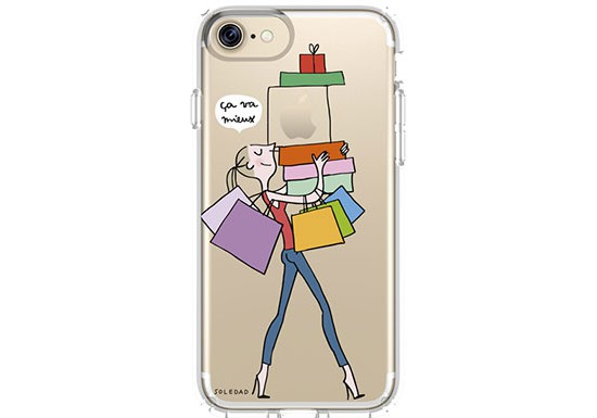 "Coque Soledad iPhone 7 ""SHOPPING"""