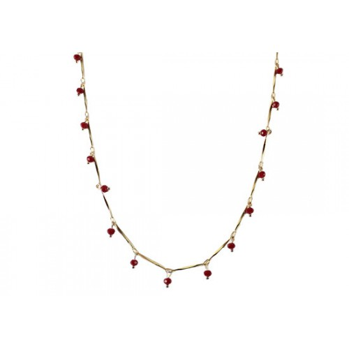 Collier Népal rouge
