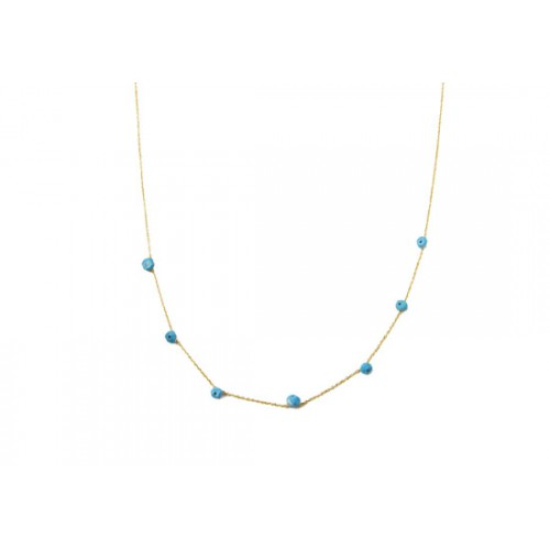 Collier stone turquoise