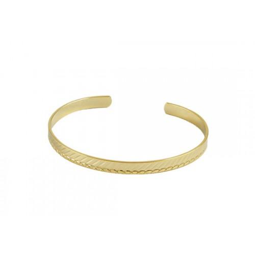Bracelet jonc Lucie doré