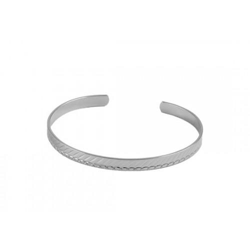 Bracelet jonc Lucie argenté