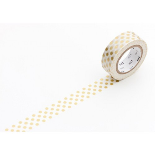 Masking Tape déco - Dot gold