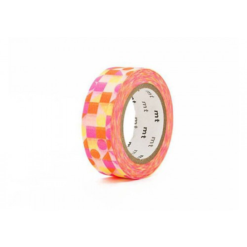 Masking Tape déco - Maru sankaku shikaku pink