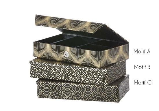 bo te bijoux noire 3 motifs au choix la boutique de louise. Black Bedroom Furniture Sets. Home Design Ideas