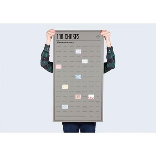 Poster 100 choses à faire avant de mourir