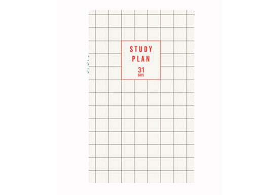 Study Plan - blanc à carreaux