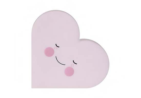 Veilleuse cœur rose