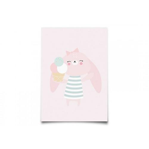 Carte Postale Bunny party animal