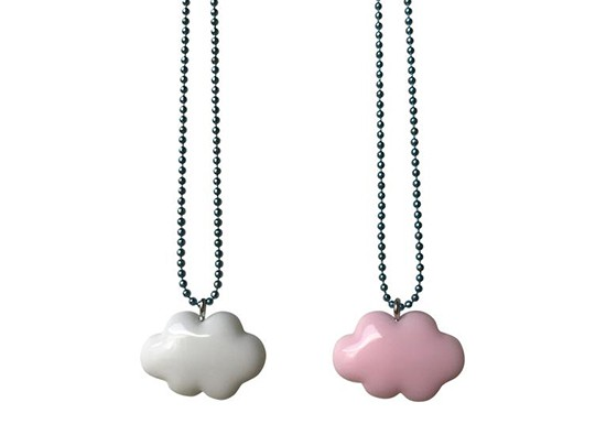 2 colliers BFF Nuages pastel