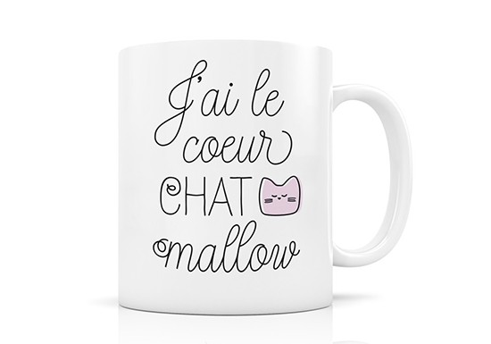 Mug Cœur Chat Mallow