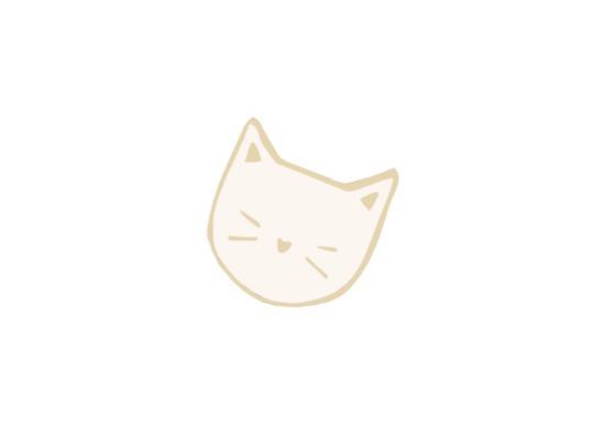 Pin's Tête de chat blanc