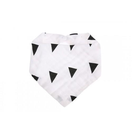 Bavoir bandana Triangles noirs