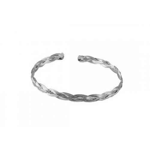 Bracelet jonc Merida argenté