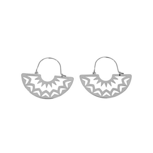 Boucles d'oreilles Veracruz argenté