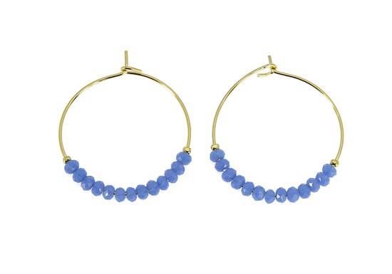 Boucles d'oreilles India bleu ciel