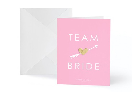Carte postale + pin's Team bride