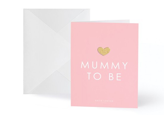 Carte postale + pin's Mummy to be