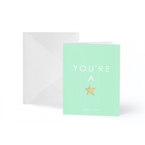Carte postale + pin's You're a star