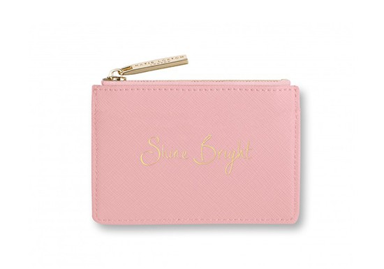"Porte-carte rose ""Live Love sparkle"""