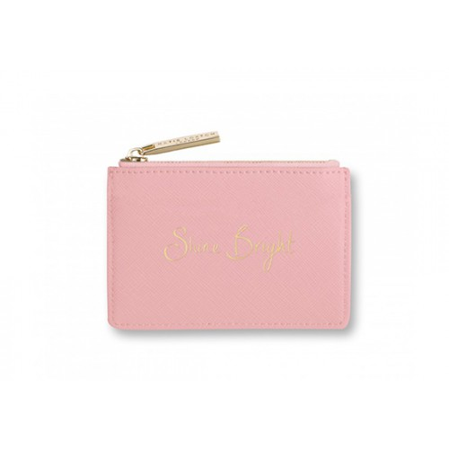 "Porte-carte rose ""Shine Bright"""