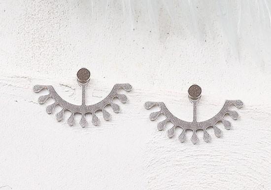 Boucles d'oreilles Esmeralda Jacket argenté