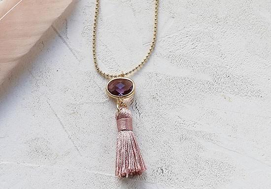 Collier Sabina violet